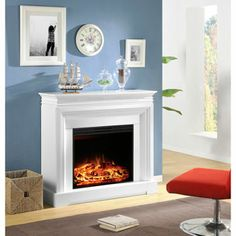 Caprice' With Mantel Electric Fireplace. Sears $549 | Livingroom ...