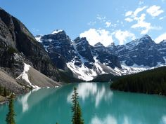 Lake Moraine Banff National Park Canada