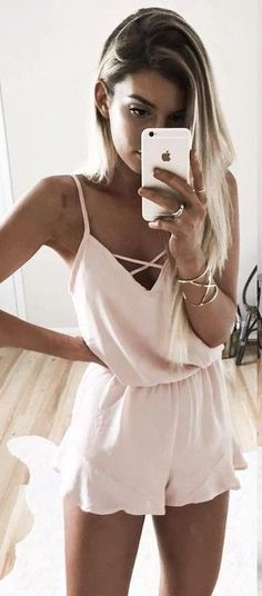#summer #young #outfits |  Nude Romper