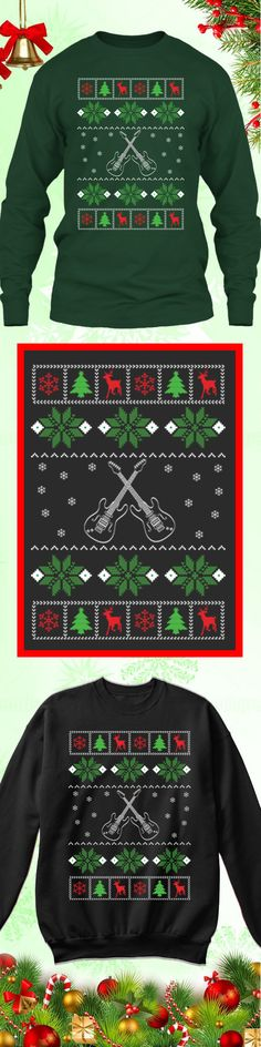 7ee9030f25fca8 Need a last minute Christmas Gift  Get this limited edition Guitar Lover Ugly  Christmas Sweater