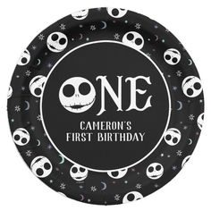 Jack Skellington First Birthday - ONE Paper Plate