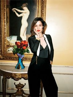 Bond Girl Bérénice Marlohe, photographed at the Gore hotel in London @ Vanity Fair