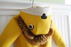 Ferocious Felt Lion Coat by littlegoodall on Etsy