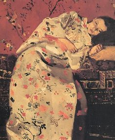 """.:. """"Girl In Silver Kimono"""" by George Hendrik Bretner (1857-1923)"""