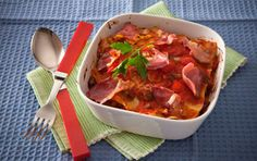 Prosciutto and Capsicum Lasagna Bake Baked Pasta Recipes, Baking Recipes, Pasta Bake, Prosciutto, Lasagna, Thai Red Curry, Salsa, Ethnic Recipes, Food