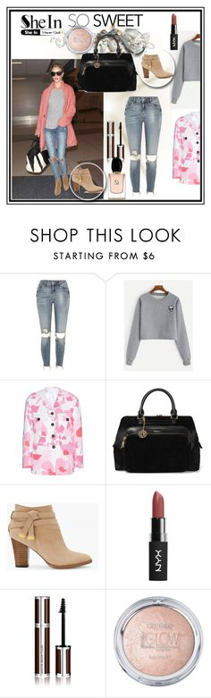 """""""Shein-contest"""" by zijadaahmetovic ❤ liked on Polyvore featuring River Island, Kerr®, Victoria Beckham, DKNY, White House Black Market, Givenchy and Armani Beauty"""