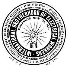 International Brotherhood of Electrical Workers logo Lineman Tattoo, Union Logo, Label Image, Labor Union, Vintage Type, Vintage Logos, Vintage Lettering, Vintage Black, Branding