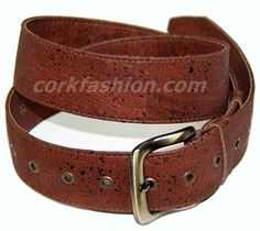 Cork Belt (model RC-GL0104001021 (2) - Eco-friendly - made of real cork. From www.corkfashion.com