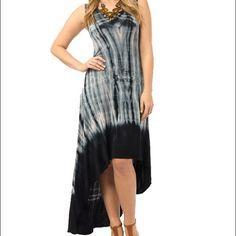 Tie-dye maxi dress High-low tie dye maxi dress, never worn! Soprano Dresses Maxi