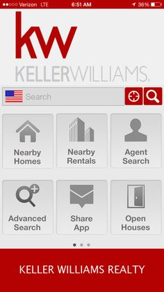 Keller Williams Realty Real Estate Search by KW Realty - app for I phones