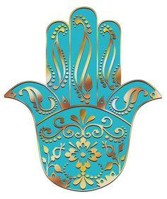 Hand of Fatima Hamsa Hand Tattoo, Hamsa Art, Fatima Hand, Tatouage Hamsa, Hamsa Design, Middle Eastern Art, Jewish Art, Islamic Art, Embroidery Patterns