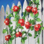 Solar Red Rose Outdoor String Lights