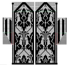 Ravelry: The Wallpaper Had it Coming (Again) Mittens pattern by ampersand designs Filet Crochet Charts, Knitting Charts, Knitting Stitches, Knitting Patterns, Stitch Patterns, Knitted Mittens Pattern, Knit Mittens, Knit Stranded, Yarn Thread