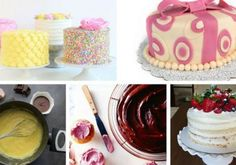 Rellenos Cute Cakes, Vanilla Cake, Fondant, Ale, Butter, Birthday Cake, Baking, Desserts, Food