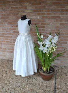 Flower Girl Dress ~ Easter Dress ~ First Communion Dress ~ by www.CouturesbyLaura.Etsy.com ~ $320.00
