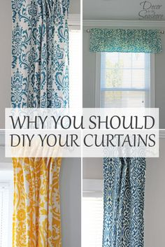 I am so tired of the overpriced store-bought curtains that don't even fit my windows! This has me convinced, DIY curtains are definitely the way to go! | decorbytheseashore.com