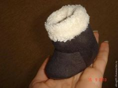 free pattern & picture directions for doll boots