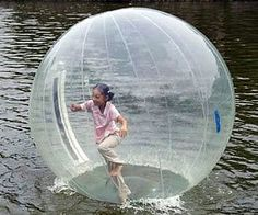 An inflatable-walk-on-water-ball. Would you trust using this product?