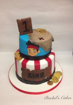Jake and the neverlands pirate cake
