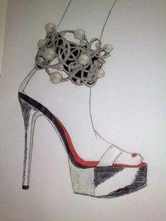Pearl and plateau shoe