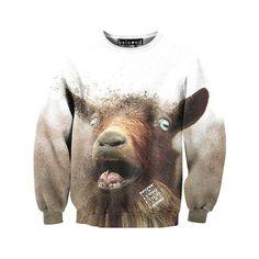 Goat Sweatshirt.... awesome... Bob needs this......
