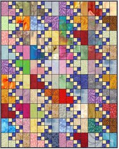 Sew Quilt corner - The corner quilt block is easy and fun to make. Use scraps, fat quarters or yardage or a combination of all three. Strip piecing or patchwork piecing or both can be used. This article includes instructions for 6 quilt sizes. 4 Patch Quilt, Quilt Blocks, Scrap Quilt Patterns, Pattern Blocks, Canvas Patterns, Lap Quilts, Scrappy Quilts, Amish Quilts, String Quilts