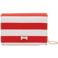 Ted Baker Stripey Evening Bag, Red (¥10,270) ❤ liked on Polyvore featuring bags, handbags, clutches, red handbags, evening handbags, evening clutches, hand bags and red evening purse