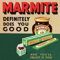 NEW MARMITE VINTAGE ADVERTS 4 COASTER SET RETRO DRINKS MAT NOSTALGIA OPIE ADVERT