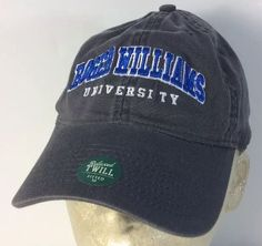 Love the color on this cap. Roger Williams University Baseball Cap Hat Gray Medium Bristol Rhode Island #Legacy #BaseballCap