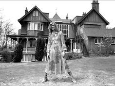 David Bowie outside Haddon Hall in Beckenham (he also lived for a while in 1969 in Flat 1, 24 Foxgrove Road, Beckenham)