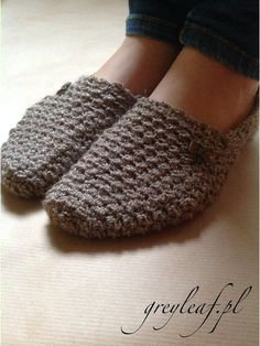 Cute slippers made by me. more at: http://www.greyleaf.pl/blog/cute-slippers/