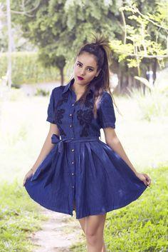 #Moda #Fashion #2015 #trendy #denim #chic #femenino #vestidocorto #romatico #romantic #altereggo on.fb.me/1LwqAuN
