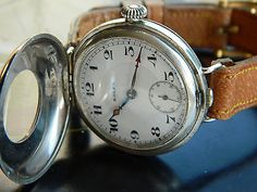 Vintage 1919 ww1 era rolex #military #officers sterling #silver watch- 2 dials…