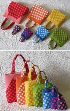 Rainbow Mini Bags - Geta's Quilting Studio