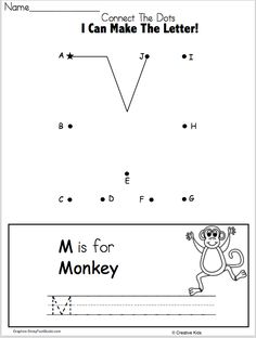Free letter a writing worksheet with a dot to dot kindergarten free letter m writing worksheet and dot to dot kindergarten and preschool fun letter formation practice for beginning writers this worksheet is perfect spiritdancerdesigns Image collections