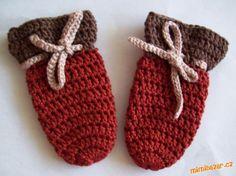 Na tyto rukavičky jsem se nechala inspirovat jiným návodem, který je zde vložen - Lucie Žaludová (dr...