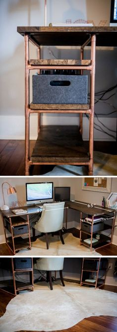 Check out the tutorial how to build a DIY copper and pipe desk @istandarddesign