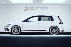 VW Golf VII mit CORSPEED KHARMA VA 8,5x19 concave, HA 8,5x19 deepconcave !!! #corspeedwheels #corspeed #kharma #golf7 #vwgolf #tunerwheels Golf 7, Concave, Vw, Wheels, Sports, Hs Sports, Sport