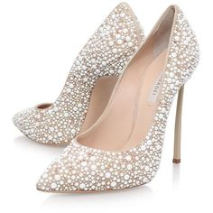 Casadei Blade Jewelled Court Shoes | Harrods ($1,175) ❤ liked on Polyvore featuring shoes, pumps, jeweled shoes, casadei shoes, jewel shoes, jeweled pumps and casadei