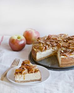 Caramel Apple Cheesecake   Obsessive Cooking Disorder