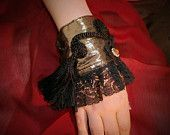 Items similar to Black-Gold ,lace ,Victorian, Gothic arm wrist cuff OOAK on Etsy Handmade Clothes, Handmade Gifts, Gold Lace, Victorian Gothic, Black Gold, Cuff Bracelets, Arms, Trending Outfits, Unique Jewelry