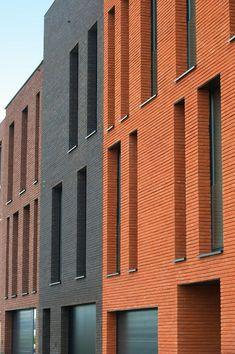 Brick Cladding, Brick Facade, Brickwork, Colour Architecture, Brick Architecture, Interior Architecture, Building Exterior, Building Facade, Brick Construction