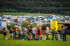 Camping galera chegando Festival Nature One, Alemanha