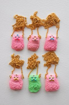 Bubble Gum Cat Amulets  Spring Cleaning// ginettepomette $15.00
