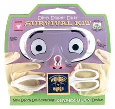 When it comes to celebrating a new baby, don't forget the baby shower gifts for dad. Mommy-to-be may not be frightened by the doom of dirty diapers, but for dear dad the New Parents Dirty Diaper Duty Survival Kit is the perfect remedy. This novelty gift i Funny New Dad Gifts, Gifts For New Parents, Mom Gifts, Baby Gifts, New Dad Survival Kit, Funny Baby Shower Gifts, First Time Dad, New Daddy, Dad Baby
