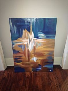 30 x 40 Abstract Painting by SarahKKreations on Etsy