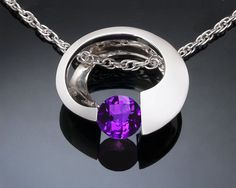 amethyst necklace  February birthstone  by VerbenaPlaceJewelry