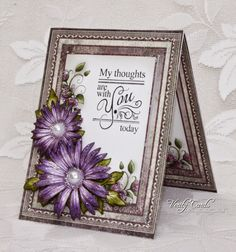 card made using Raindrops on Roses papers and sentiment from Heartfelt Creations. Made by Liz Walker.