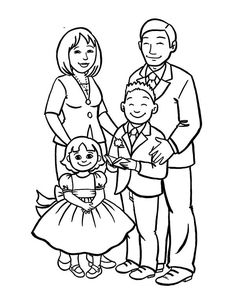 How To Draw A Beautiful Family Coloring Page : Coloring Sky Fox Coloring Page, Family Coloring Pages, Love Coloring Pages, Easy Mermaid Drawing, Mermaid Drawings, Coloring For Kids Free, Cartoon Familie, Simpsons Drawings, Drawing Competition