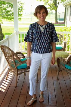 Boxy top for Spring 2015 using Butterick 6175 and a fun bird poplin print